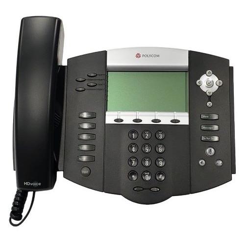 Teléfono SoundPoint IP 550 SIP, pantalla 4 líneas, Incluye Fuente de Alimentación Poly