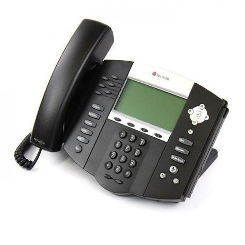 Teléfono IP (SIP) para Escritorio, 6 Líneas, No Incluye Fuente de Alimentación Poly