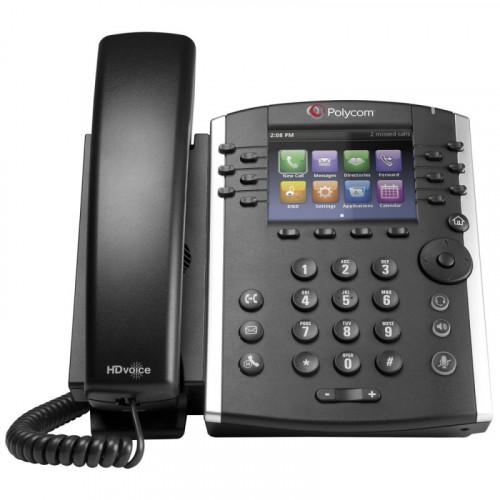 Microsoft Lync Edition VVX 401 12-line Desktop Phone with HD Voice, PoE, No Inc. Fuente de Aliment Poly