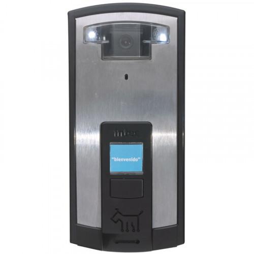 Telecámara a color de un botón diseño Bot con placa de acero inoxidable, cámara a color INTEC
